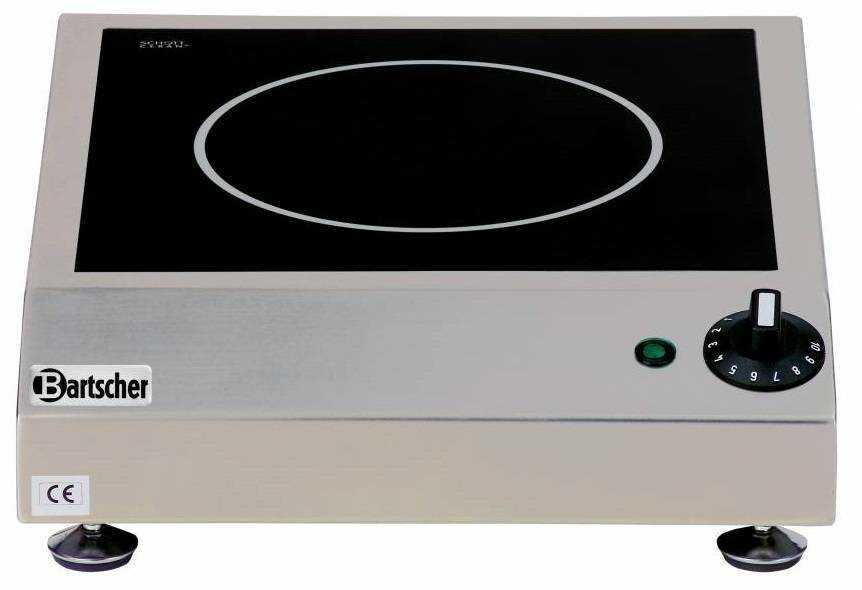 Bartscher Kuchnia ceramiczna nastawna 1 pole grzewcze 2300W - kod 104904