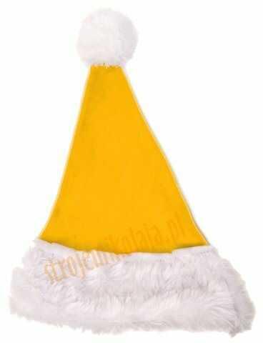 Żółta czapka Mikołaja dla dzieci