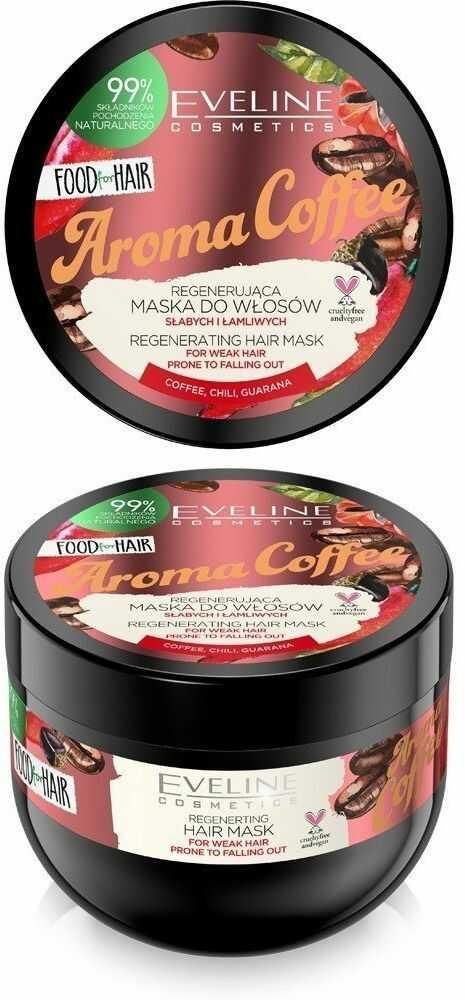 Eveline Eveline Food for Hair Aroma Coffee Maska do włosów słabych i łamliwych - regeneracja i wzmocnienie 500ml