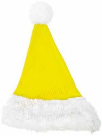 Cytrynowa czapka Mikołaja dla dzieci