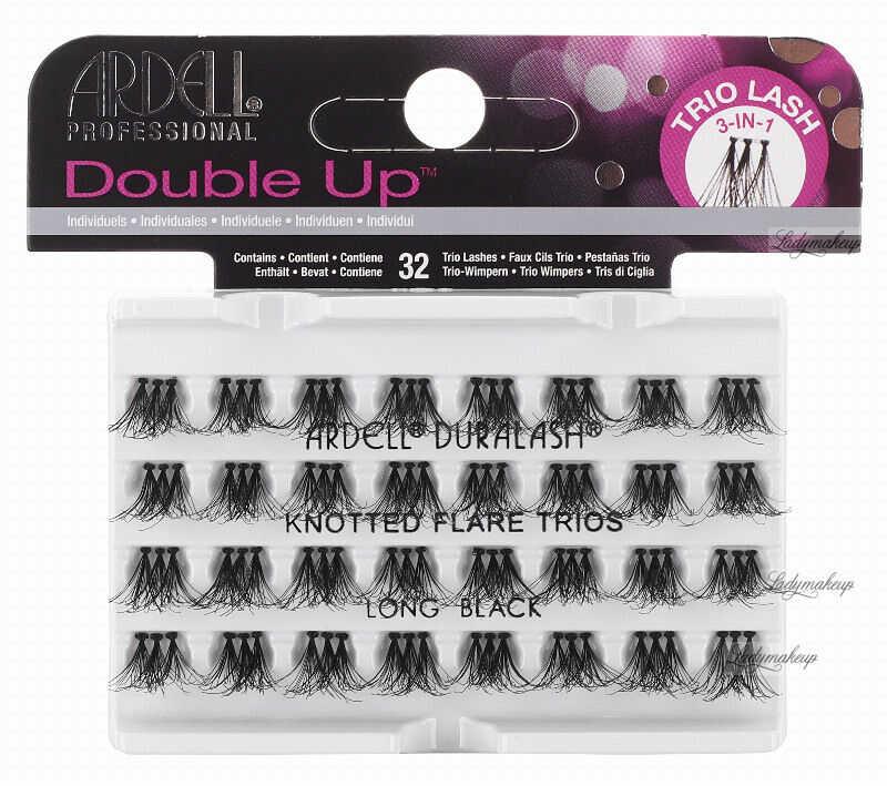 ARDELL - Double Up - Rzęsy w kępkach o zwiększonej objętości - KNOTTED FLARE TRIOS - LONG BLACK