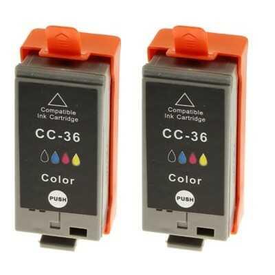 Tusze Zamienniki CLI-36 do Canon (1511B018) (Kolorowe) (dwupak) - DARMOWA DOSTAWA w 24h