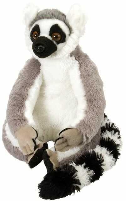 Wild Republic Ring Tailed Lemur Pluszowa miękka zabawka, Przytulne zabawki, prezenty dla dzieci 30 cm