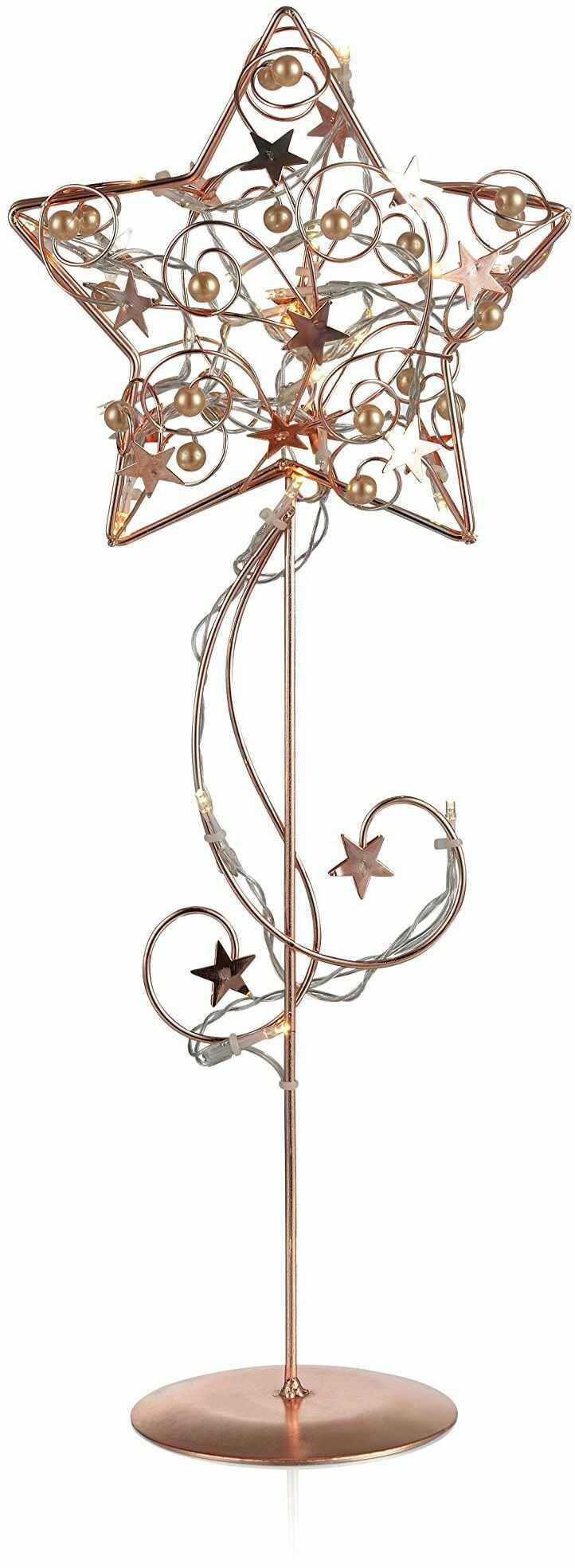 Markslöjd 703901, lampa stołowa, 0,5 W, zintegrowana, miedziana, 18 x 10,5 x 44 cm