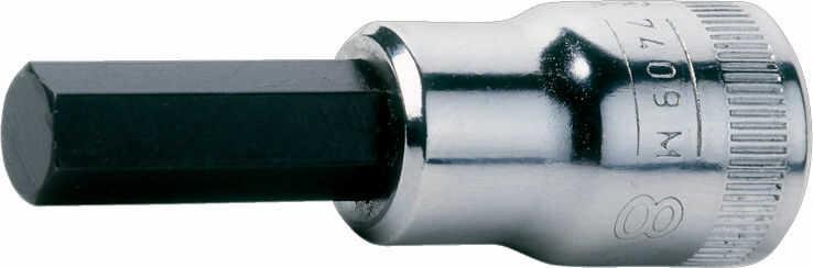 """zestaw nasadek z końcówkami imbus, 1/2"""", 4-17mm, 9 szt. BAHCO [S9HEX]"""