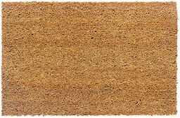 Carpido Antypoślizgowa mata kokosowa  antybakteryjna mata na podłogę do zadaszonego obszaru zewnętrznego  trwałe włókna naturalne  100% kokos  60 x 90 cm  naturalna