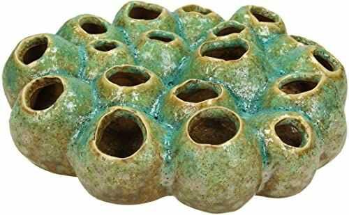 Wazon - ceramika - zielony - 22,5 x 22,5 x 7,3 cm