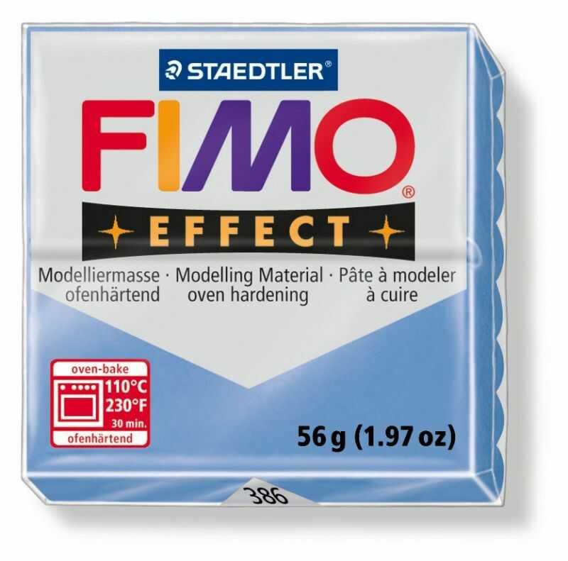 Masa plastyczna FIMO Effect 57g 3536-FIMO 802274, Kolor masy: Niebieska agat