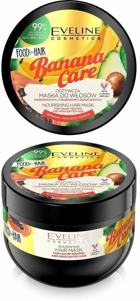Eveline Eveline Food for Hair Banana Care Maska do włosów farbowanych - ochrona koloru i odżywienie 500ml