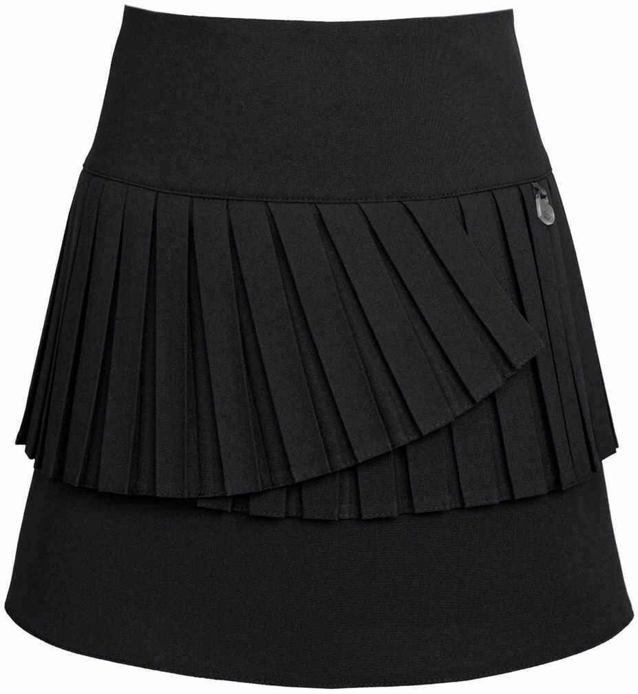 Modna spódnica z plisami 122-152 303a/SZK czarny