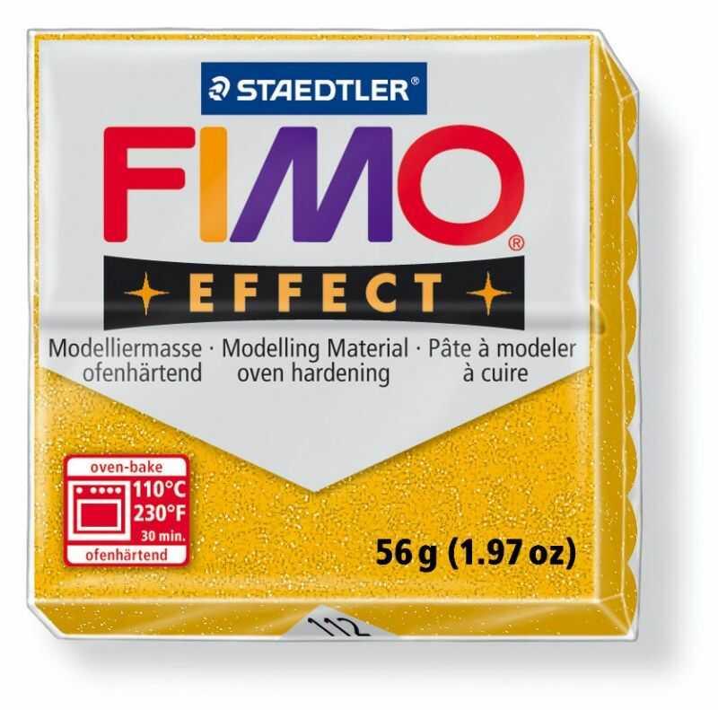 Masa plastyczna FIMO Effect 57g 811037 810467, Kolor masy: Złota błyszcząca