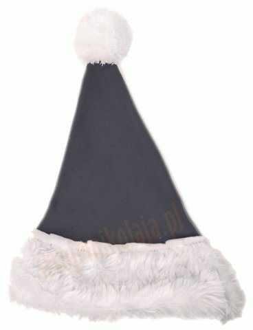 Szara czapka Mikołaja dla dzieci