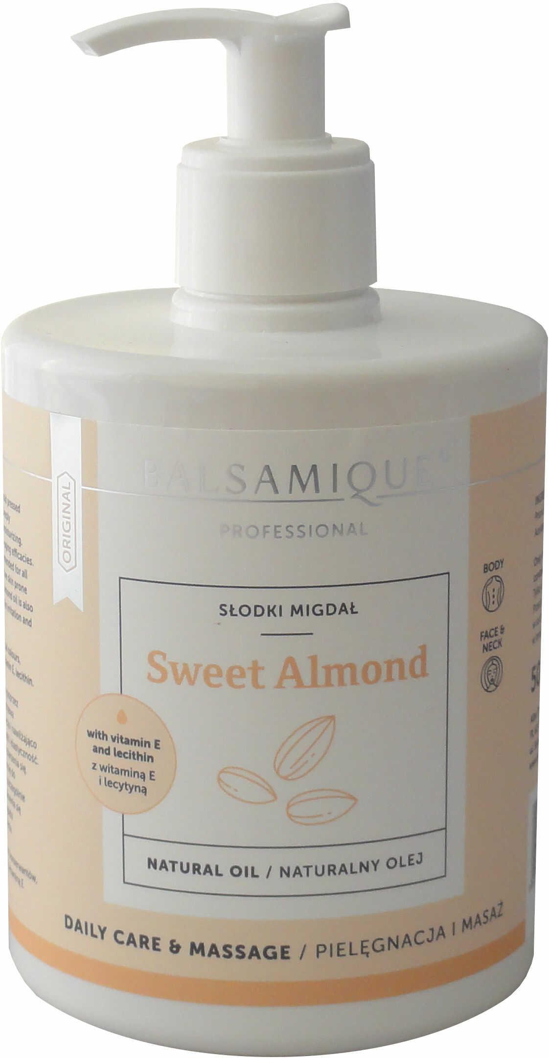 Naturalny olej do masażu ze słodkich migdałów