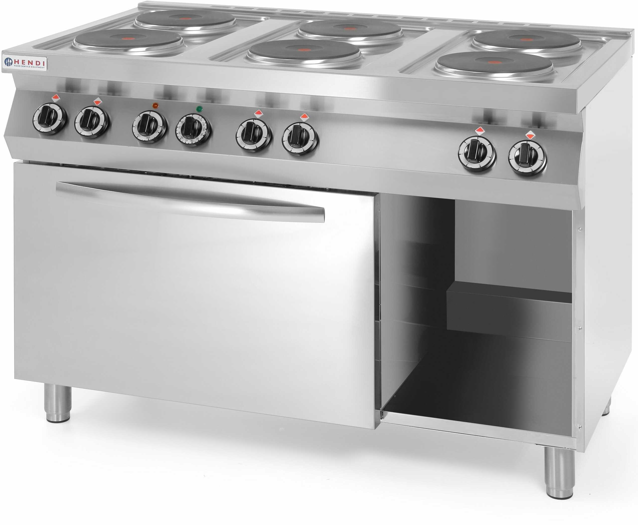 Kuchnia gastronomiczna elektryczna 6-płytowa z piekarnikiem