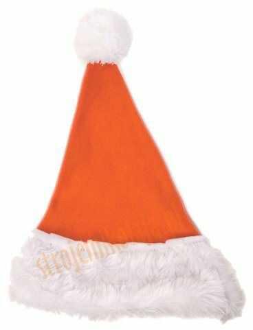 Pomarańczowa czapka Mikołaja dla dzieci