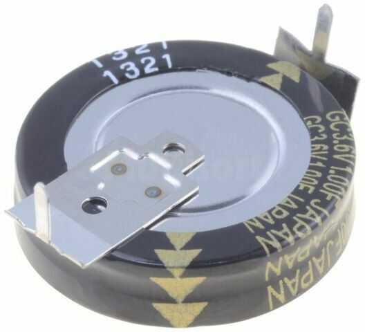 Kondensator elektrolityczny PANASONIC THT 1F 3,6V O20,5x6,5mm -25 85 C