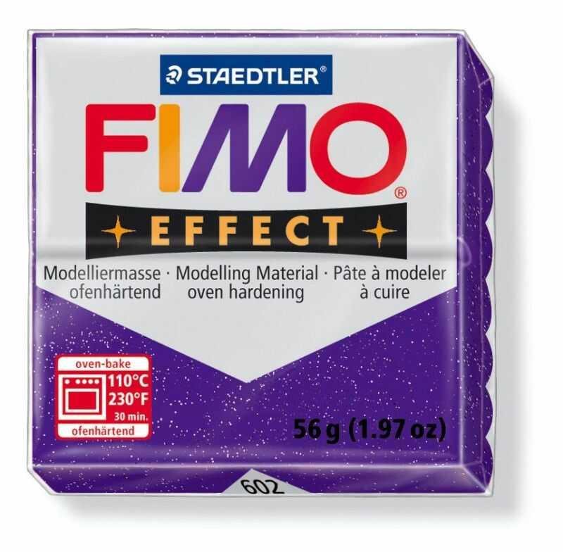 Masa plastyczna FIMO Effect 57g 817992 818081, Kolor masy: Fioletowa błyszcząca