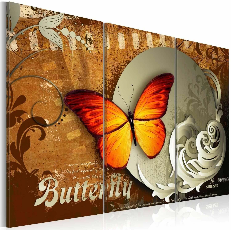 Obraz - ognisty motyl i pełnia księżyca