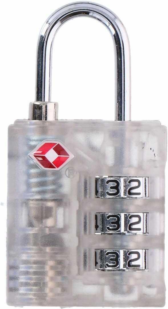 Kłódka na szyfr do bagażu walizki z systemem TSA Dunlop 3,3x6,5x1,3