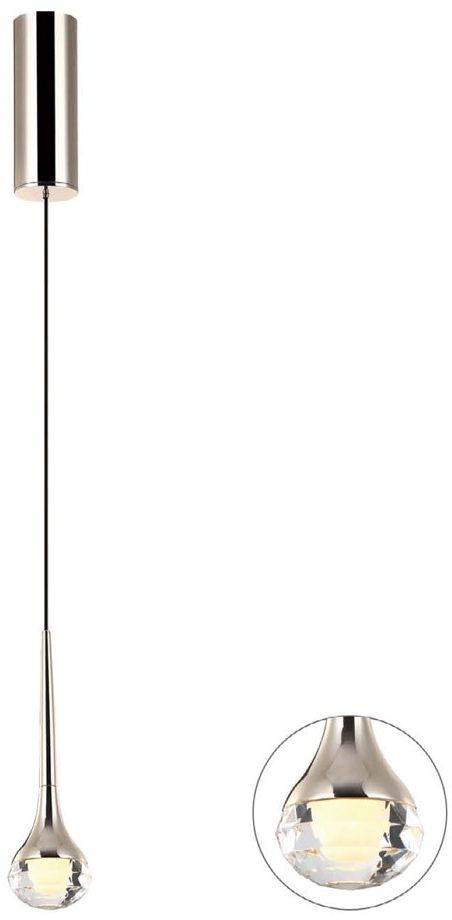Lampa wisząca 1 punktowa LED Crima gold złota - Orlicki Design // Rabaty w koszyku i darmowa dostawa od 299zł !