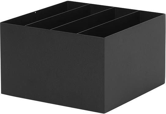 Pojemnik z przegródkami do kwietników plant box czarny