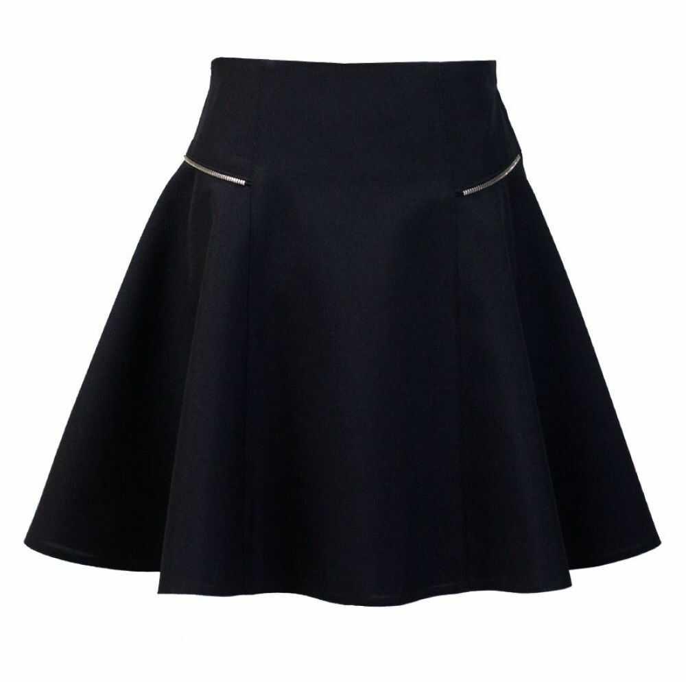 Klasyczna spódnica z ozdobnymi zameczkami 140-164 Zuza czarny