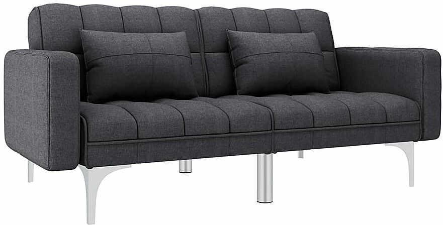 Rozkładana dwuosobowa ciemnoszara sofa - Distira 2D