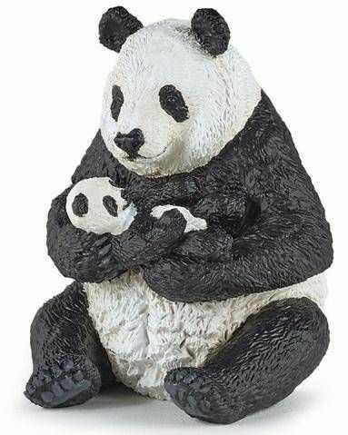 Panda z młodym siedząca - PAPO