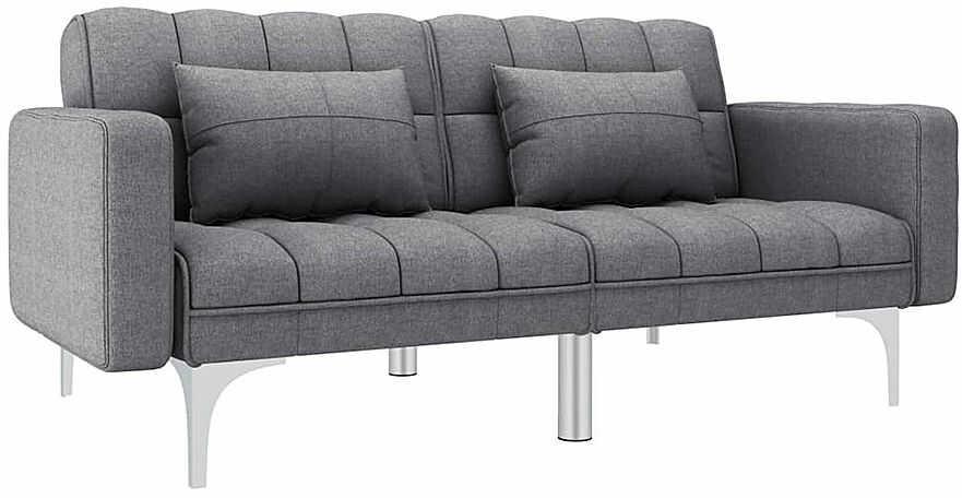 Rozkładana dwuosobowa jasnoszara sofa - Distira 2D