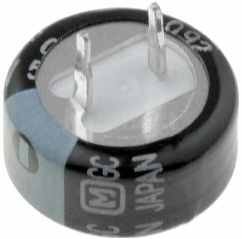 Kondensator elektrolityczny PANASONIC THT 1F 5,5V O21,5x9,5mm -25 85 C