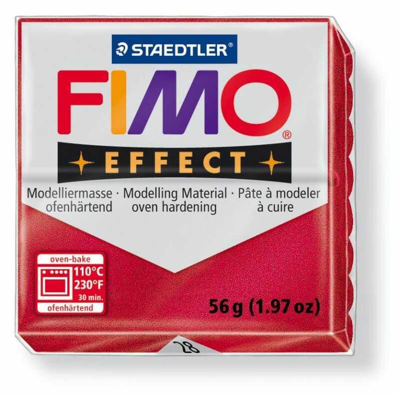 Masa plastyczna FIMO Effect 57g 810481 811075, Kolor masy: Czerwona metaliczna