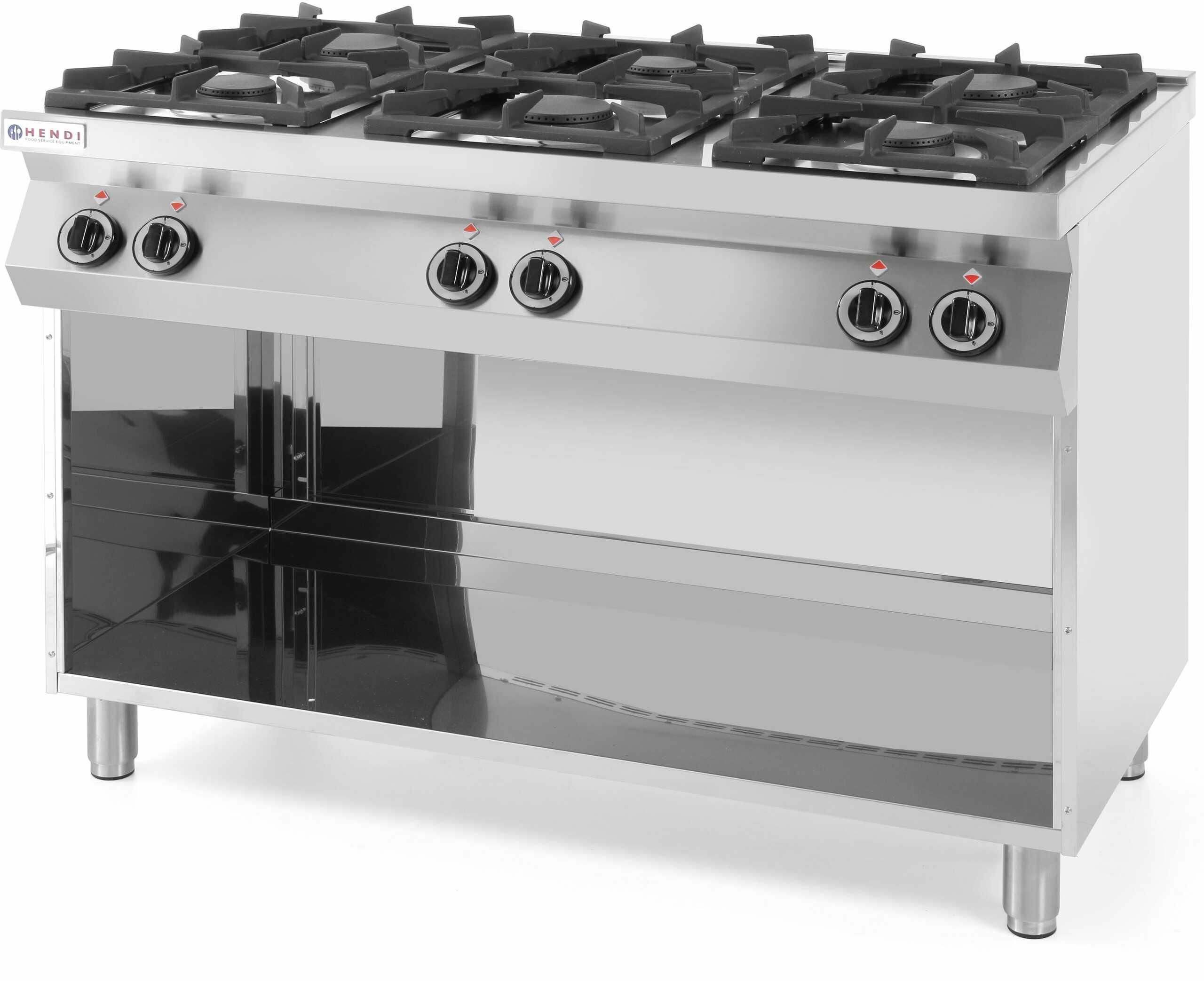 Kuchnia gazowa 6-palnikowa Kitchen Line