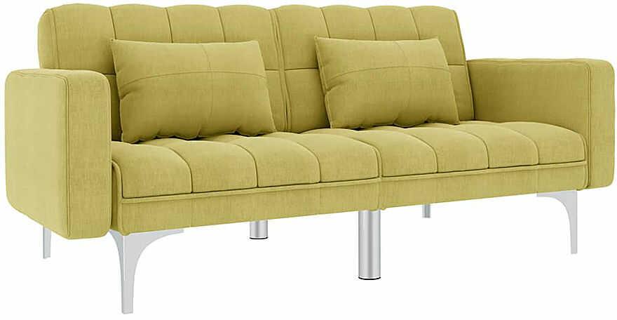 Rozkładana dwuosobowa zielona sofa - Distira 2D
