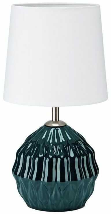 Lampa stołowa LORA zielono-biała E14 MARKSLOJD