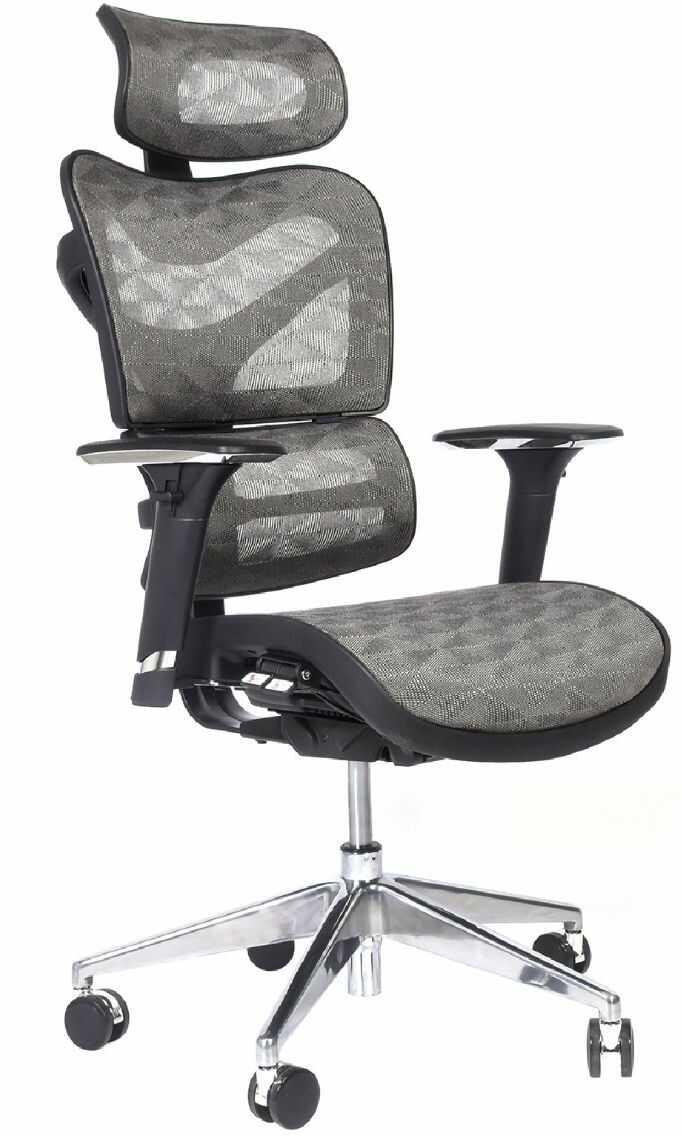 Ergonomiczny fotel biurowy ERGO 600 szary