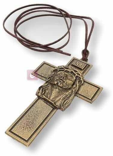 Krzyż do bierzmowania z rzemykiem 10cm