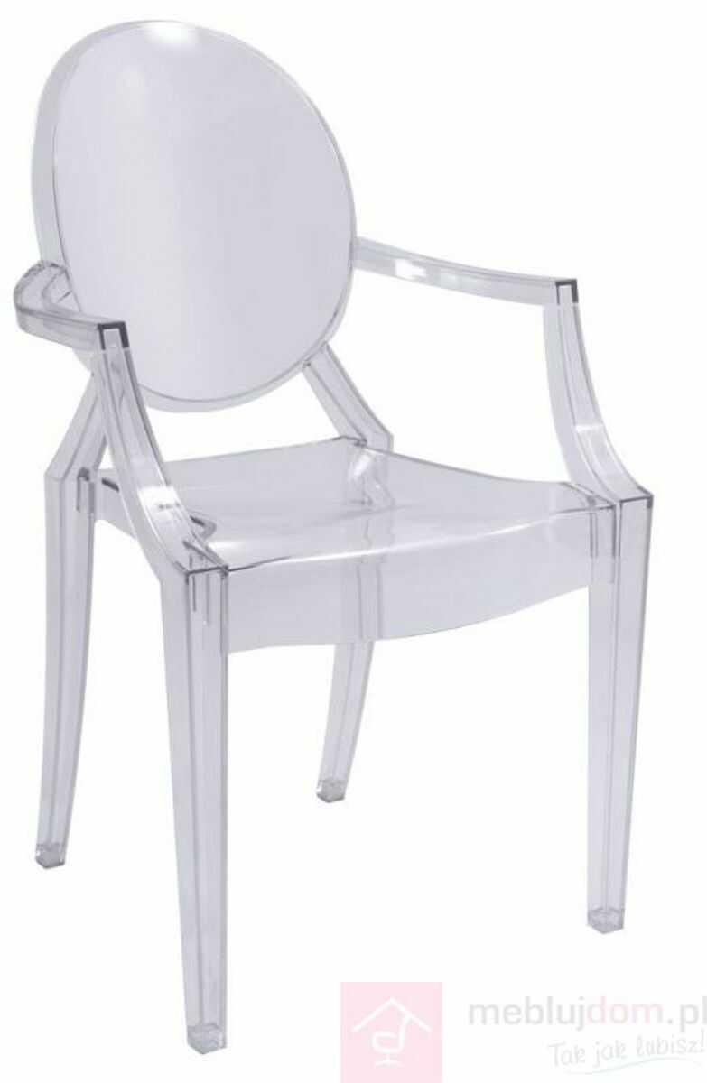 KUPON 10% NA STRONIE  Krzesło LUIS Signal Przezroczysty