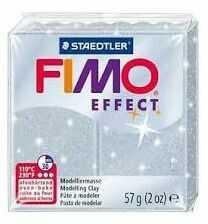 Masa plastyczna FIMO Effect 57g 817848 810573, Kolor masy: Srebrna błyszcząca