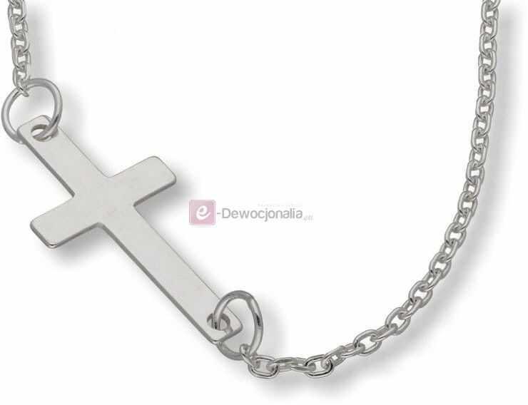 Bransoletka srebrna, próba 925, 0,8g - krzyżyk