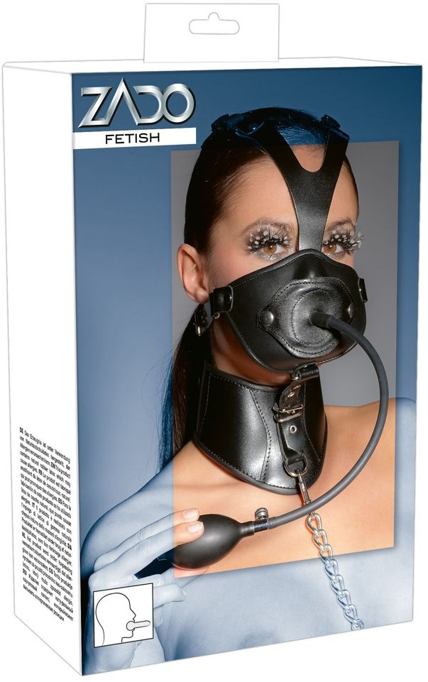 Zado Leather Head Mask and Gag