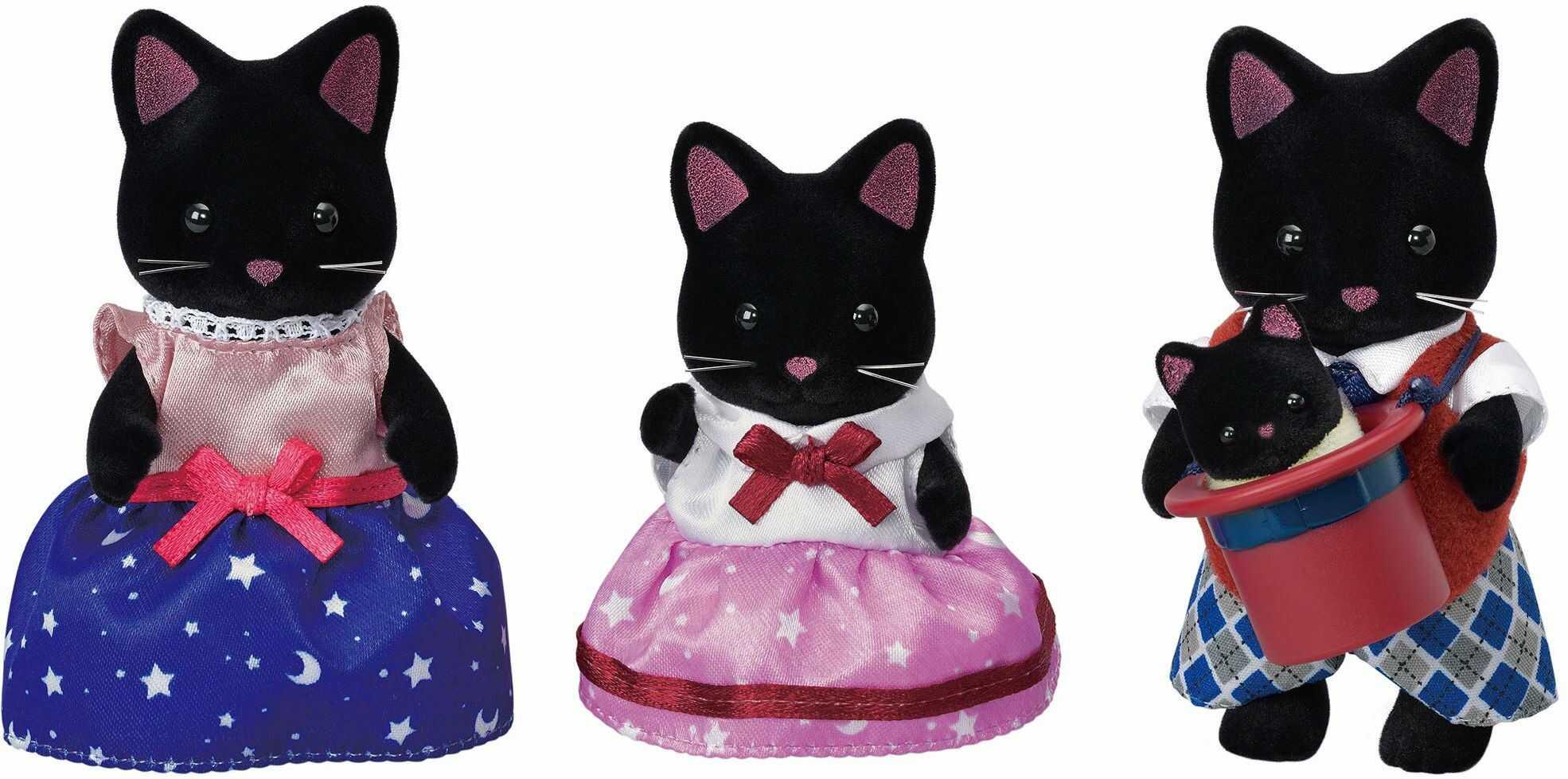 Sylvanian Families 5530 Midnight rodzina kotów - Zestawy do zabawy dla lalek
