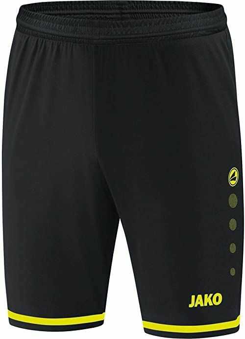 Jako Striker 2.0 męskie spodnie sportowe, czarny/neonowo-żółty, XL