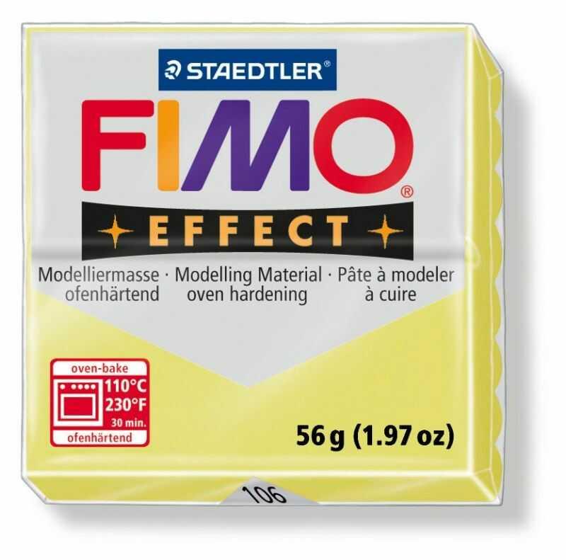 Masa plastyczna FIMO Effect 57g 810573 802281, Kolor masy: Cytrynowa