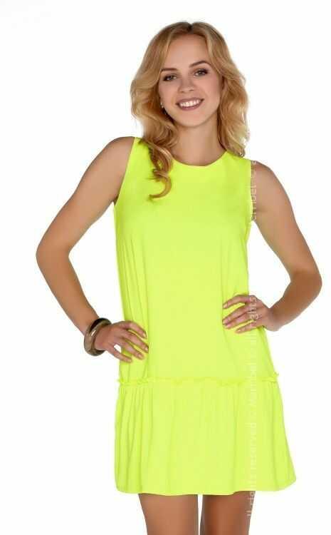 Nixolna Neon Yellow sukienka