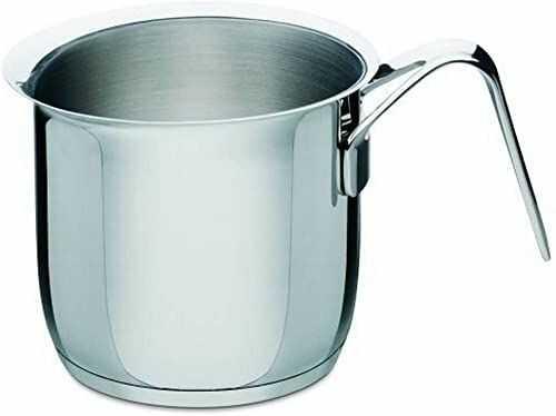 """Alessi """"POTS&PANS"""" garnek do gotowania mleka ze stali nierdzewnej"""