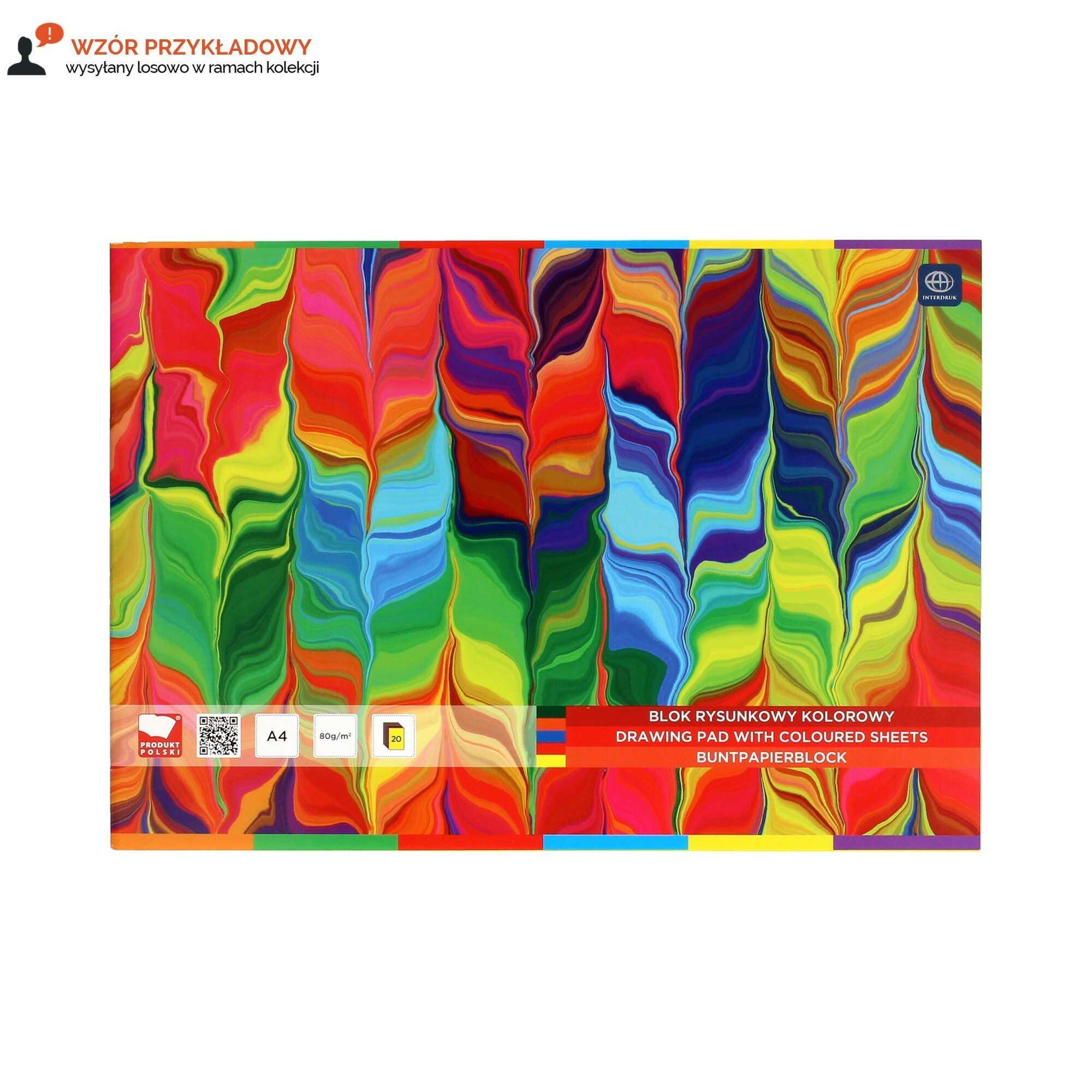 Blok rysunkowy A4/20 kolorowy Interdruk