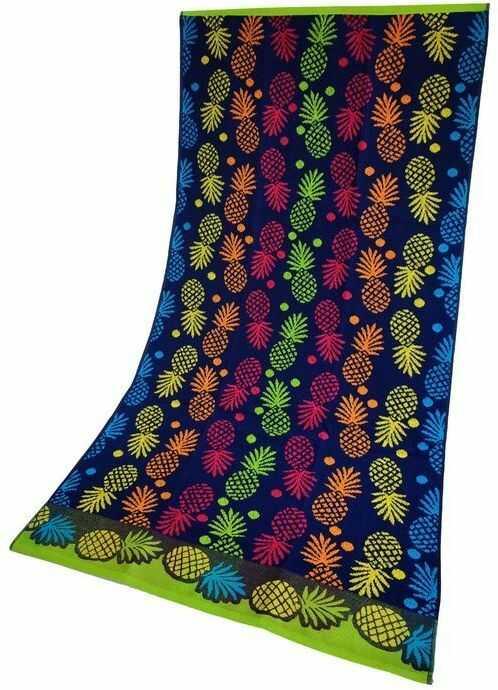 Ręcznik Plażowy Ananas Niebieski 70x140 Greno 70 x 140