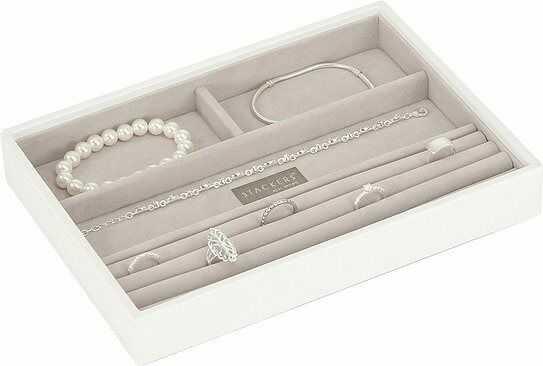 Szkatułka na biżuterię stackers 4 komorowa classic biała