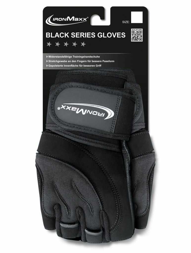 Ironmaxx Rękawice treningowe Black Series, Rozmiar: S/M