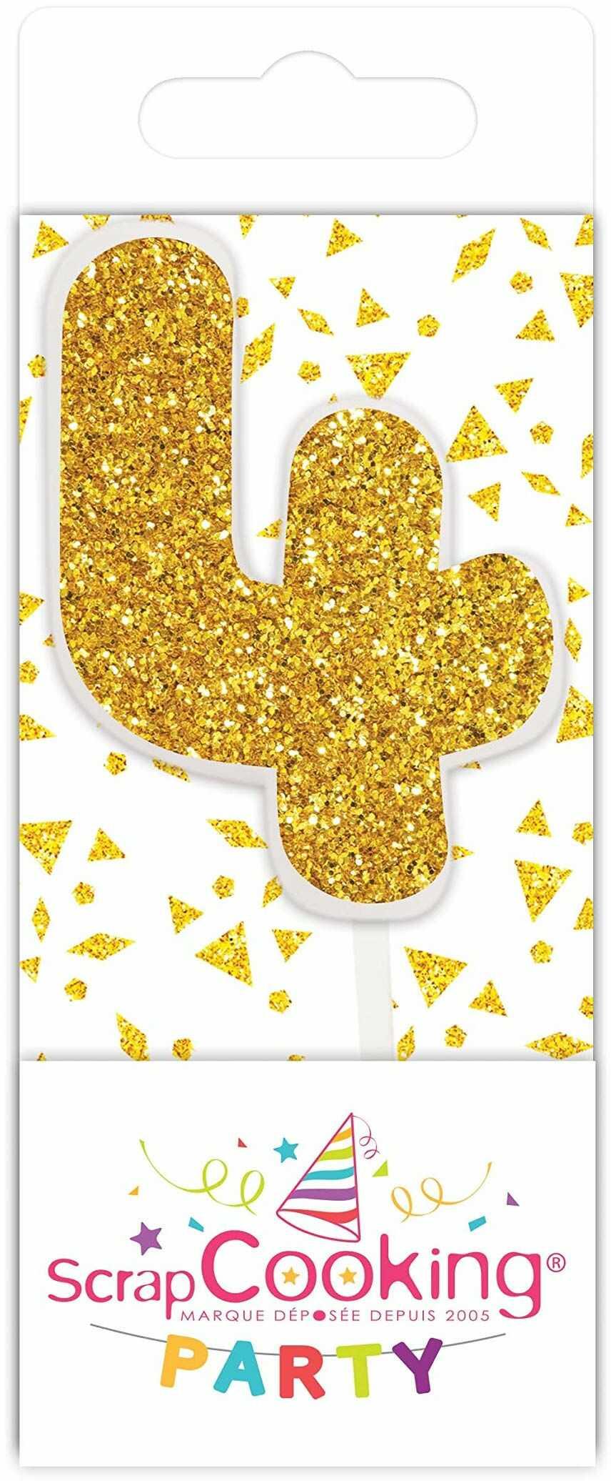 Scrapcooking 0594 mini świeca, kolor złoty